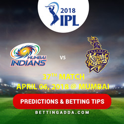 Mumbai Indians vs Kolkata Knight Riders 37th Match Prediction Betting Tips Preview