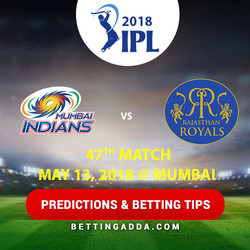 Mumbai Indians vs Rajasthan Royals 47th Match Prediction Betting Tips Preview 1