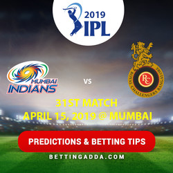 Mumbai Indians vs Royal Challengers Bangalore 31st Match Prediction Betting Tips Preview