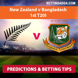 New Zealand v Bangladesh 1st T20I Prediction and Betting Tips
