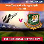New Zealand v Bangladesh 1st Test Prediction Betting Tips