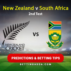 New Zealand v South Africa 2nd Test Predictions and Trading Tips
