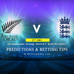 New Zealand vs England 2nd ODI Prediction Betting Tips Preview