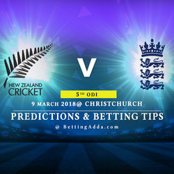New Zealand vs England 5th ODI Match Prediction Betting Tips Preview