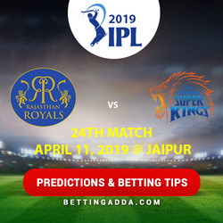 Rajasthan Royals vs Chennai Super Kings 25th Match Prediction Betting Tips Preview
