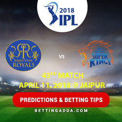 Rajasthan Royals vs Chennai Super Kings 43rd Match Prediction Betting Tips Preview