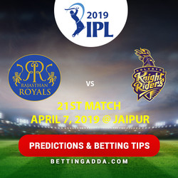 Rajasthan Royals vs Kolkata Knight Riders 21st Match Prediction Betting Tips Preview