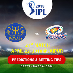 Rajasthan Royals vs Mumbai Indians 21st Match Prediction Betting Tips Preview