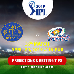 Rajasthan Royals vs Mumbai Indians 36th Match Prediction Betting Tips Preview