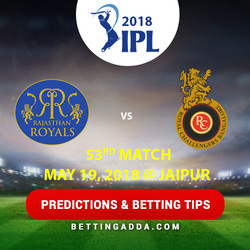 Rajasthan Royals vs Royal Challengers Bangalore 53rd Match Prediction Betting Tips Preview