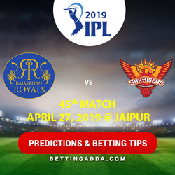 Rajasthan Royals vs Sunrisers Hyderabad 45th Match Prediction Betting Tips Preview