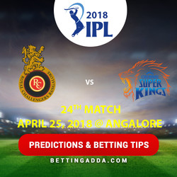 Royal Challengers Bangalore vs Chennai Super Kings 24th Match Prediction Betting Tips Preview