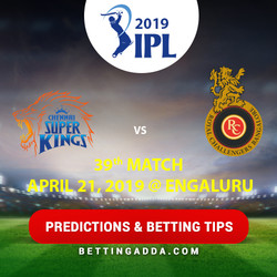 Royal Challengers Bangalore vs Chennai Super Kings 39th Match Prediction Betting Tips Preview