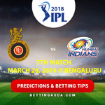 Royal Challengers Bangalore vs Mumbai Indians 7th Match Prediction Betting Tips Preview