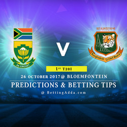 South Africa v Bangladesh 1st T20I 26 October 2017 Bloemfontein Predictions and Betting Tips
