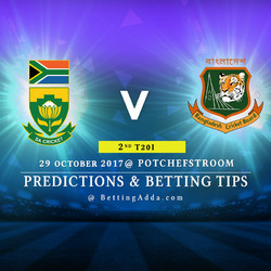 South Africa v Bangladesh 2nd T20I 29 October 2017 Potchefstroom Predictions and Betting Tips