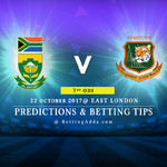 South Africa v Bangladesh 3rd ODI 22 October 2017 East London Predictions and Betting Tips