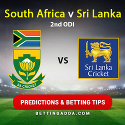 South Africa v Sri Lanka 2nd ODI Predictions Betting Tips