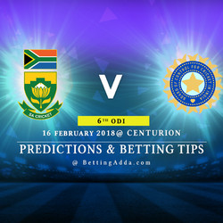 South Africa vs India 6th ODI Prediction Betting Tips Preview