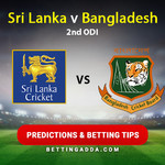 Sri Lanka v Bangladesh 2nd ODI Predictions and Betting Tips