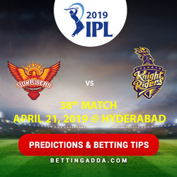 Sunrisers Hyderabad vs Kolkata Knight Riders 38th Match Prediction Betting Tips Preview