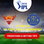 Sunrisers Hyderabad vs Rajasthan Royals 4th Match Prediction Betting Tips Preview