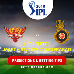 Sunrisers Hyderabad vs Royal Challengers Bangalore 11th Match Prediction Betting Tips Preview