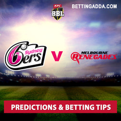 Sydney Sixers v Melbourne Renegades BBL 06 Predictions and Betting Tips