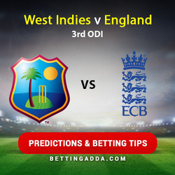 West Indies v England 3rd ODI Predictions and Betting Tips