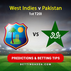 West Indies v Pakistan 1st T20I Predictions and Betting Tips