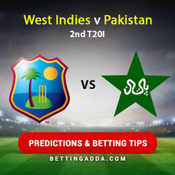 West Indies v Pakistan 2nd T20I Predictions and Betting Tips