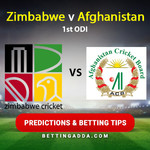 Zimbabwe v Afghanistan 1st ODI 16 Feb 2017 Predictions and Betting Tips