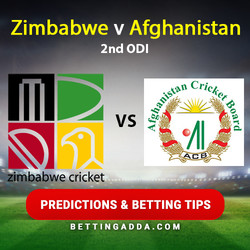 Zimbabwe v Afghanistan 2nd ODI Predictions and Betting Tips