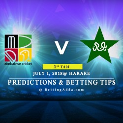 Zimbabwe vs Pakistan 1st T20I Prediction Betting Tips Preview 1