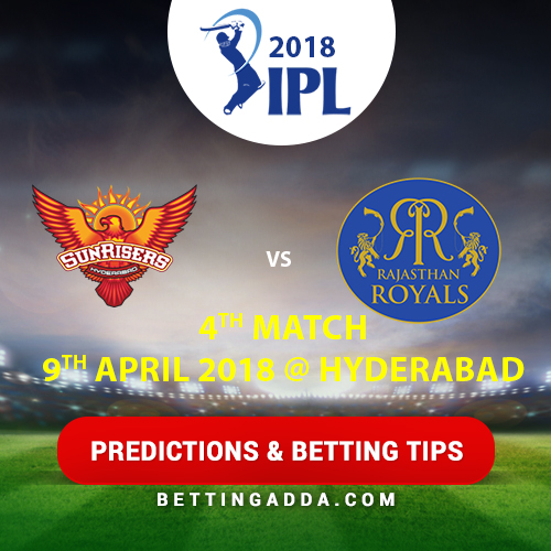 Sunrisers Hyderabad vs Rajasthan Royals 4th Match Prediction, Betting Tips & Preview