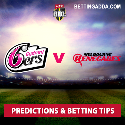 Sydney Sixers vs Melbourne Renegades 21st Match Prediction, Betting Tips & Preview