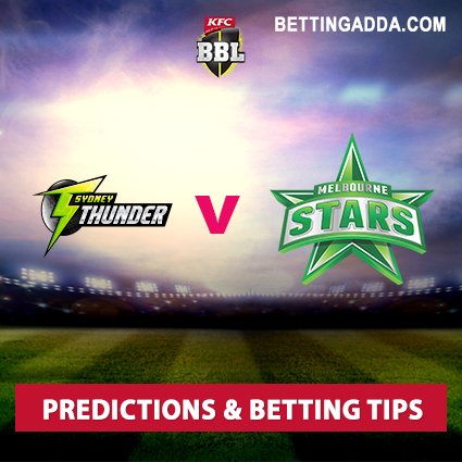 Sydney Thunder vs Melbourne Stars 16th Match Prediction, Betting Tips & Preview