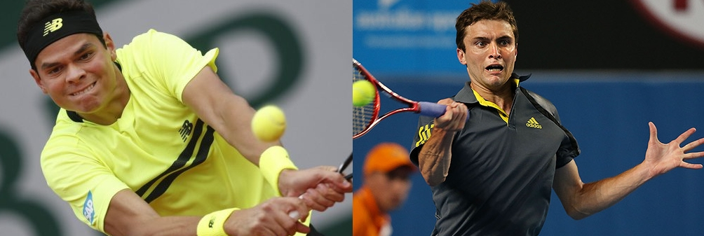 Milos Raonic vs Gilles Simon. Canadian horse-power versus French efficiency.