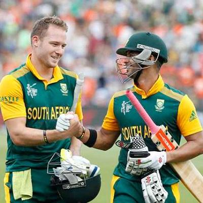 David Miller and Jean-Paul Duminy - Individual tons with 256 runs partnership vs. Zimbabwe